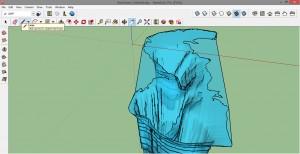 Каспийское море 3D в SketchUp