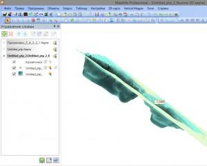 рис.№1 Построение модели в  Mapinfo первым способом